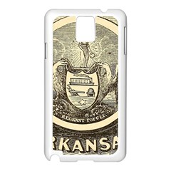State Seal Of Arkansas, 1853 Samsung Galaxy Note 3 N9005 Case (white) by abbeyz71