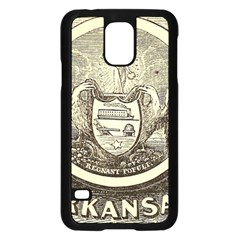 State Seal Of Arkansas, 1853 Samsung Galaxy S5 Case (black)