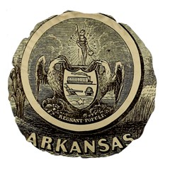 State Seal Of Arkansas, 1853 Large 18  Premium Flano Round Cushions by abbeyz71