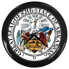 State Seal Of Arkansas Wall Clock (black) by abbeyz71