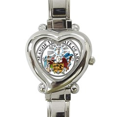 State Seal Of Arkansas Heart Italian Charm Watch by abbeyz71