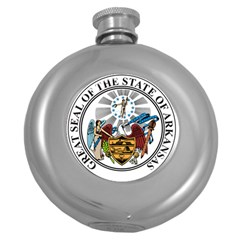 State Seal Of Arkansas Round Hip Flask (5 Oz) by abbeyz71
