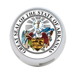 State Seal Of Arkansas 4 Port Usb Hub (one Side)