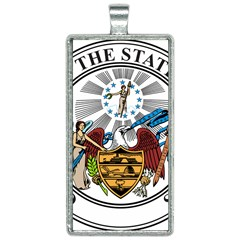 State Seal Of Arkansas Rectangle Necklace