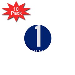 Guam Highway 1 Route Marker 1  Mini Buttons (10 Pack)  by abbeyz71