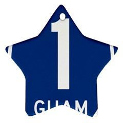 Guam Highway 1 Route Marker Star Ornament (two Sides) by abbeyz71