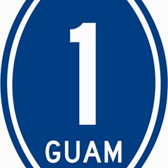 Guam Highway 1 Route Marker Canvas 16  X 16
