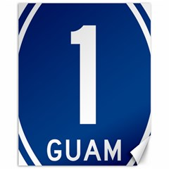 Guam Highway 1 Route Marker Canvas 11  X 14  by abbeyz71