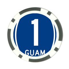 Guam Highway 1 Route Marker Poker Chip Card Guard by abbeyz71