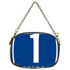 Guam Highway 1 Route Marker Chain Purse (one Side)
