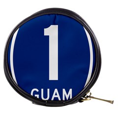 Guam Highway 1 Route Marker Mini Makeup Bag by abbeyz71