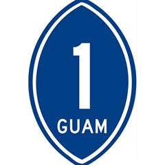 Guam Highway 1 Route Marker 5 5  X 8 5  Notebook by abbeyz71