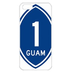 Guam Highway 1 Route Marker Apple Iphone 5 Seamless Case (white) by abbeyz71