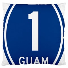 Guam Highway 1 Route Marker Large Flano Cushion Case (one Side) by abbeyz71