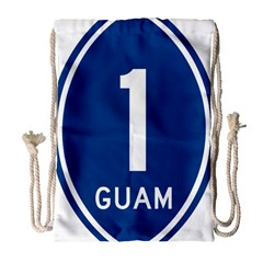Guam Highway 1 Route Marker Drawstring Bag (large) by abbeyz71