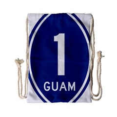 Guam Highway 1 Route Marker Drawstring Bag (small) by abbeyz71
