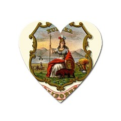 Historical Coat Of Arms Of California Heart Magnet by abbeyz71