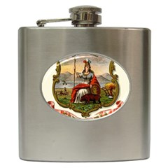 Historical Coat Of Arms Of California Hip Flask (6 Oz)