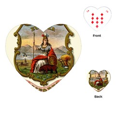 Historical Coat Of Arms Of California Playing Cards (heart) by abbeyz71