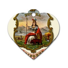 Historical Coat Of Arms Of California Dog Tag Heart (one Side) by abbeyz71