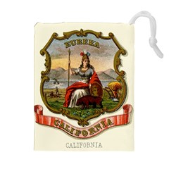 Historical Coat Of Arms Of California Drawstring Pouch (xl) by abbeyz71