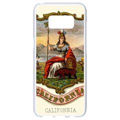 Historical Coat Of Arms Of California Samsung Galaxy S8 White Seamless Case by abbeyz71