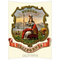 Historical Coat Of Arms Of California Back Support Cushion