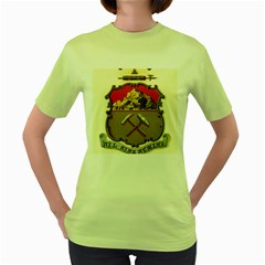 Historical Coat Of Arms Of Colorado Women s Green T Shirt