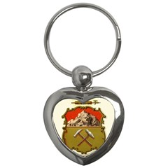 Historical Coat Of Arms Of Colorado Key Chains (heart)  by abbeyz71