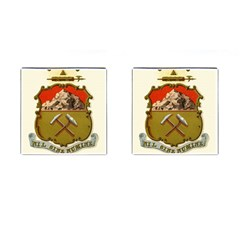 Historical Coat Of Arms Of Colorado Cufflinks (square) by abbeyz71