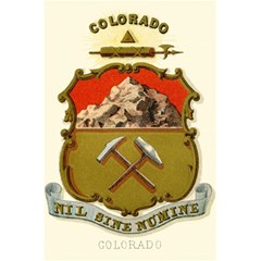 Historical Coat Of Arms Of Colorado 5 5  X 8 5  Notebook