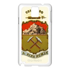 Historical Coat Of Arms Of Colorado Samsung Galaxy Note 3 N9005 Case (white) by abbeyz71