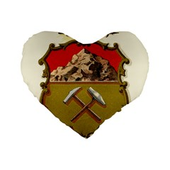 Historical Coat Of Arms Of Colorado Standard 16  Premium Flano Heart Shape Cushions by abbeyz71