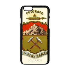 Historical Coat Of Arms Of Colorado Apple Iphone 6/6s Black Enamel Case