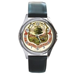 Historical Coat Of Arms Of Dakota Territory Round Metal Watch by abbeyz71