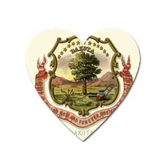 Historical Coat Of Arms Of Dakota Territory Heart Magnet by abbeyz71