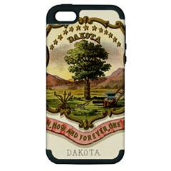 Historical Coat Of Arms Of Dakota Territory Apple Iphone 5 Hardshell Case (pc+silicone)