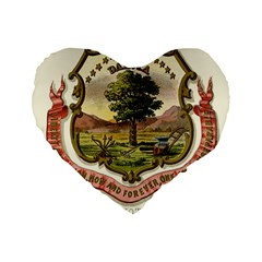 Historical Coat Of Arms Of Dakota Territory Standard 16  Premium Flano Heart Shape Cushions by abbeyz71