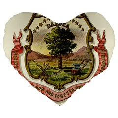 Historical Coat Of Arms Of Dakota Territory Large 19  Premium Flano Heart Shape Cushions by abbeyz71