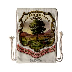 Historical Coat Of Arms Of Dakota Territory Drawstring Bag (small) by abbeyz71