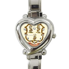 Historical Coat Of Arms Of Connecticut Heart Italian Charm Watch by abbeyz71