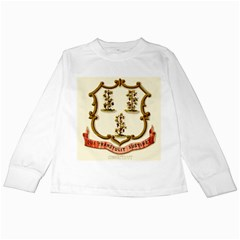 Historical Coat Of Arms Of Connecticut Kids Long Sleeve T Shirts