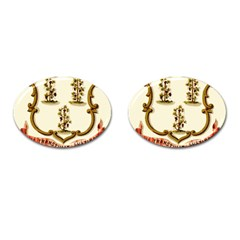 Historical Coat Of Arms Of Connecticut Cufflinks (oval)