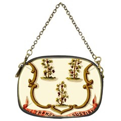 Historical Coat Of Arms Of Connecticut Chain Purse (one Side)