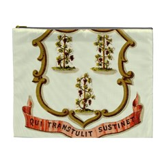 Historical Coat Of Arms Of Connecticut Cosmetic Bag (xl)