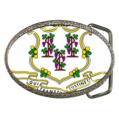 Coat Of Arms Of Connecticut Belt Buckles by abbeyz71