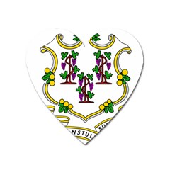 Coat Of Arms Of Connecticut Heart Magnet by abbeyz71