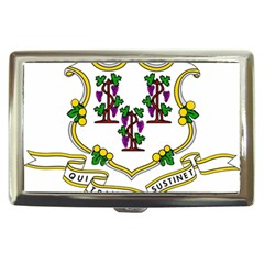 Coat Of Arms Of Connecticut Cigarette Money Case by abbeyz71