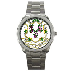 Coat Of Arms Of Connecticut Sport Metal Watch by abbeyz71