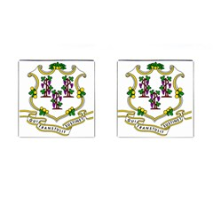 Coat Of Arms Of Connecticut Cufflinks (square) by abbeyz71